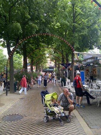Jardins de Tivoli : Caminho de pedestres pelo parque