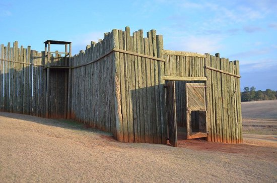 Andersonville National Historic Site and National Prisoner of War Museum: The front gate of the fort/stockade
