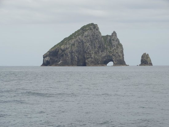 "Fullers GreatSights Bay of Islands Day Tours: The famous ""Hole in the Rock"""