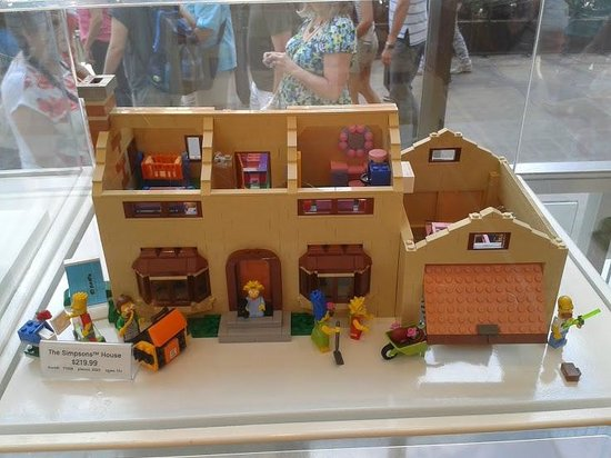 The Simpsons Lego House - Picture of The LEGO Store, New York City ...