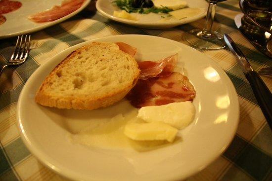 Carlo Menta Talevi Luigi e Luciano : antipasto: meats and cheeses