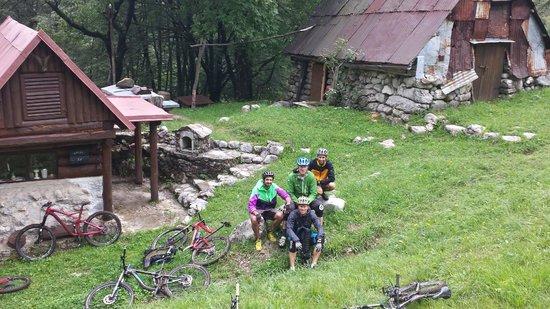 Mountain Bike Galaxy: A break on our Soca valley ride.