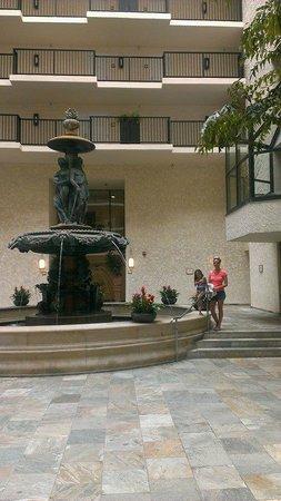 Newport Beach Marriott Hotel & Spa: Seriously; it's a big fountain.