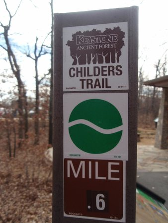 Keystone Ancient Forest: trail marker