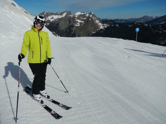 Chalet Amuse Bouche: At the top of the Prolays lift on the Arare run...April