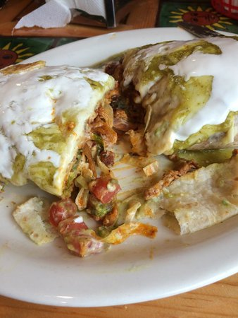 Taqueria El Sol: Burrito with pork.  Fully cooked all the way through.  Meat was very flavorful.