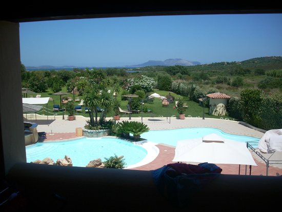 Speraesole : vista della piscina dal terrazzo della camera