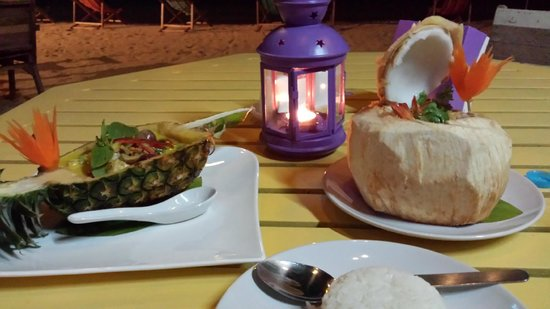 THINK & Retro Cafe Lipa Noi: Food served in other food