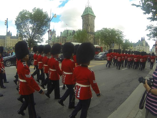 Changing of the Guard: Troops March Away