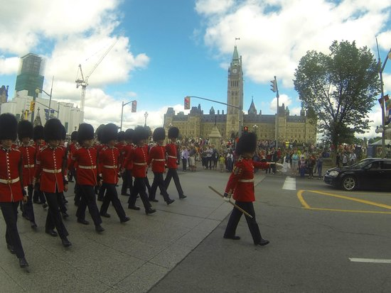 Changing of the Guard: Procession on Wellington