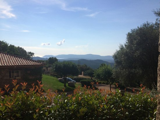 Les Jardins de Mathieu : Vue de notre chambre