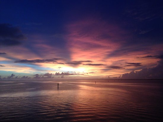 Captain's Table: The sunset from the deck