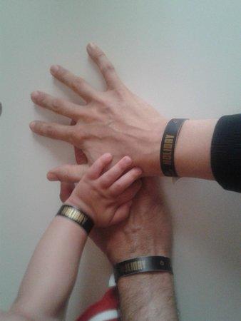 Centro Turistico Holiday: braccialetti identificativi