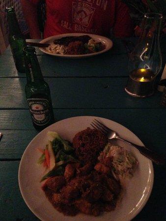 D Coalpot BVI Restaurant Bar & Grill: Coconut Curry Chicken