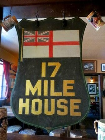 17 Mile House: Old Outside Sign