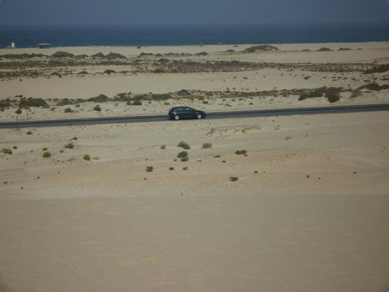 Corralejo Dunes: car from the dunes