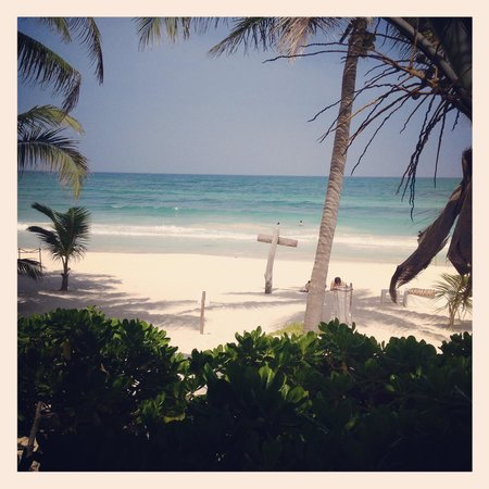 The Beach Tulum : The view from our Deluxe room on the 1st floor.