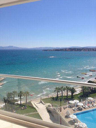 Boyalik Beach Hotel & Spa Cesme: View from 8th floor