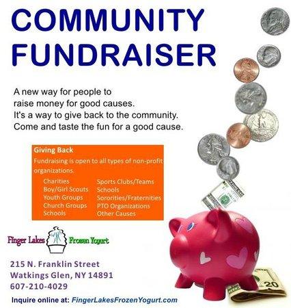 Finger Lakes Frozen Yogurt: Community Fundraiser opportunities