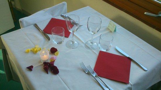 Hotel Pedraladda : Cena romantica