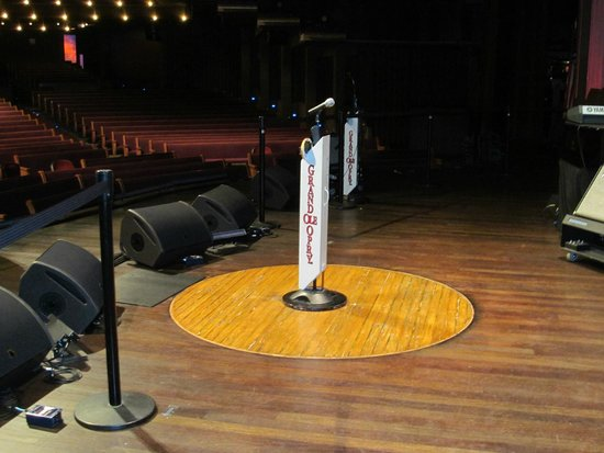 Grand Ole Opry : Where all the stars stand to sing on stage.