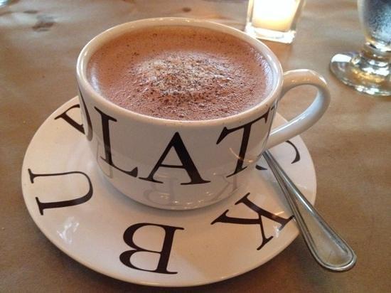 The Restaurant at Burdick's : Decadent hot chocolate (milk or dark) is good anytime--even dessert.
