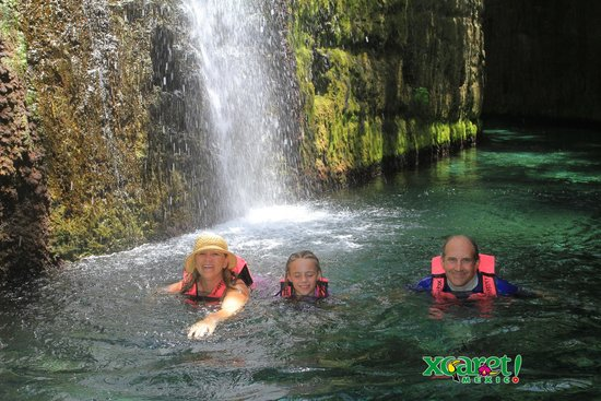 Xcaret Eco Theme Park: Xcaret river swim
