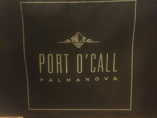 Port O'Call: Restaurant sign
