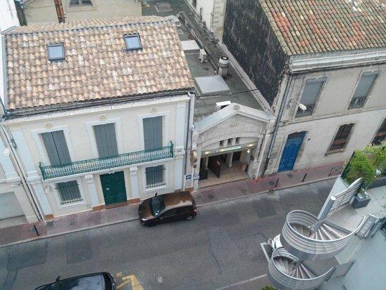 Best Western Hotel Eurociel : Vue de la chambre 68 sur le restaurant Marocain Regency