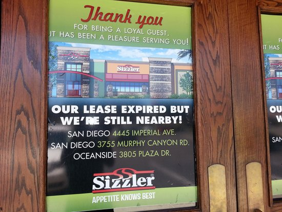 Sizzler: Lease expired?