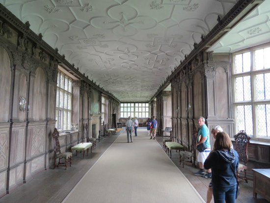 Haddon Hall: The great hall where ladies could exercise when wet outside