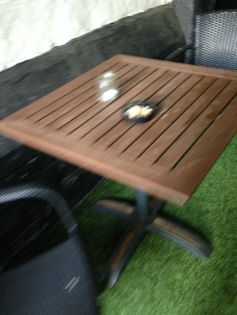 The Chapter House : Courtyard tables not cleared
