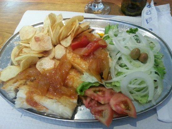 Restaurante Caravela da Ribeira: El bacalao, riquísimo