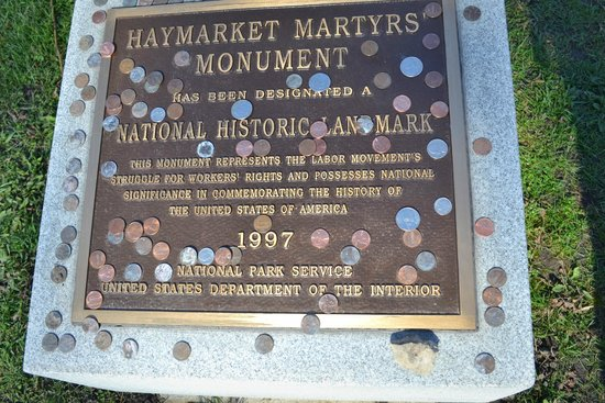 Forest Home Cemetery: National Historic Landmark plaque