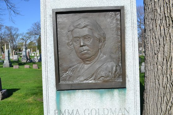 Forest Home Cemetery: Emma Goldman grave