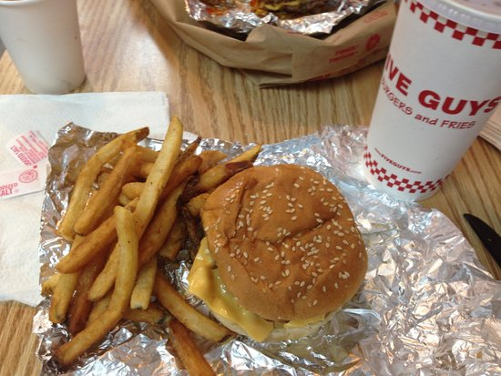 Five guys delicious burger and fries!