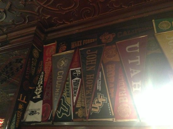 Harry's New York Bar: Some Pennants (near the Bar, to the right)