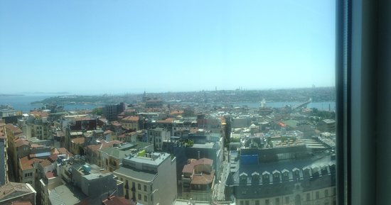 The Marmara Pera Hotel: View from our room (1611)