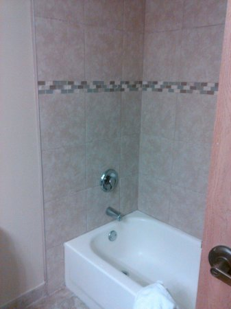 Motel 6 Pine Bluff: Bathroom décor is modern and has a nice home like feel!