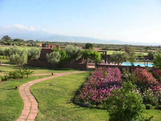 Ecolodge Quaryati : Vue depuis toit terrasse