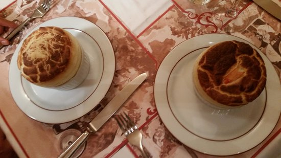 La Cuisine de Philippe : Our appetizers - lobster souffle and cheese souffle