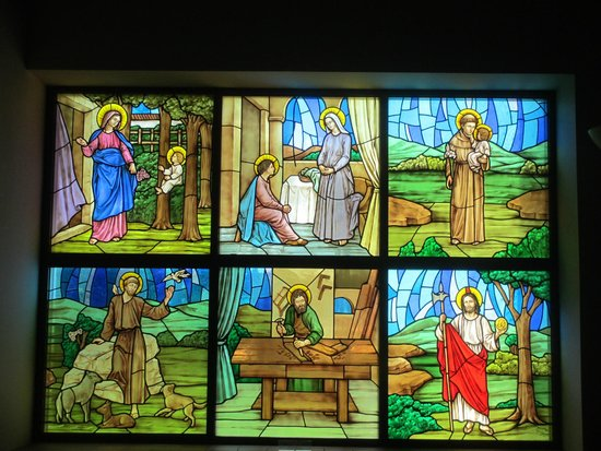 Basilica of the National Shrine of Mary, Queen of the Universe: Stained Glass Window