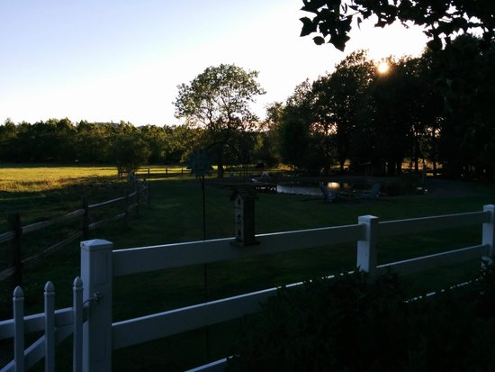 Hopewell Bed & Breakfast: sunset from our porch