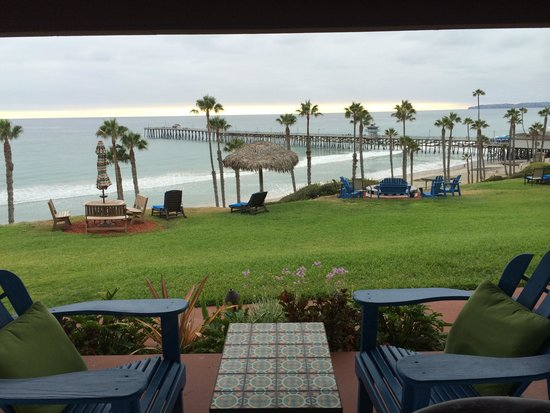 Beachcomber Inn: View from the room and our porch.