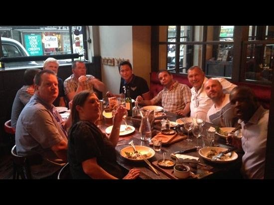 Le Bistrot Pierre : me and my friends celebrating at Bistro Pierre