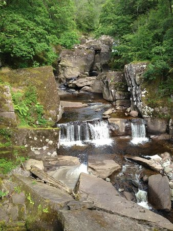 Bracklinn Falls Bridge and Callander Crags: Bracklinn Falls