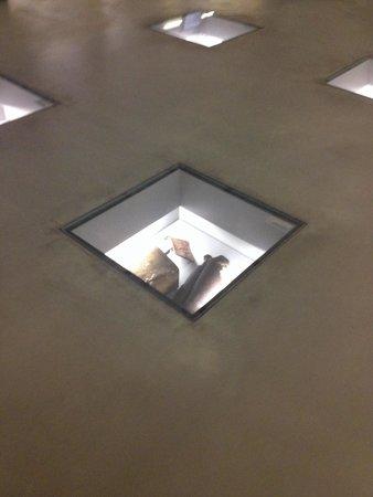 Dokumentationszentrum KZ Bergen-Belsen: Artifacts in the floor