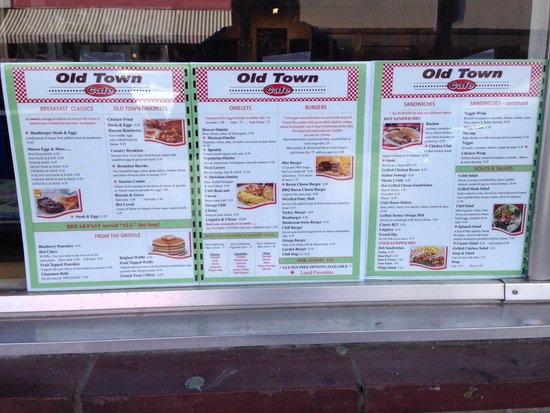 Old Town Cafe': Old Town Cafe menu