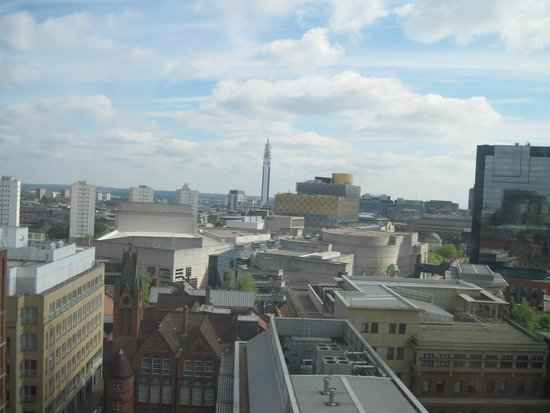 SACO Birmingham - Brindleyplace: View from the balcony toward the library