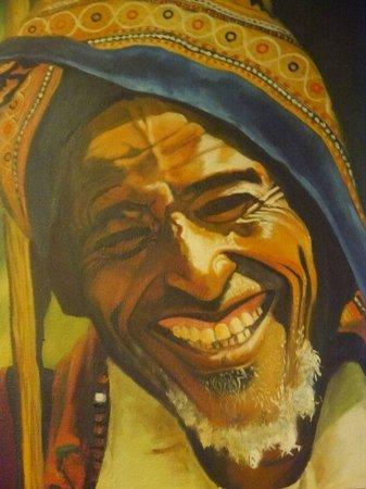 Lalibela: Smiley Old Man Painting